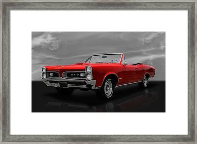 1966 Pontiac Gto 389 Tri-power Framed Print