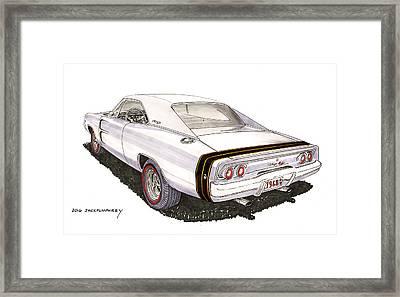 1968 Dodge Charger R T Framed Print by Jack Pumphrey