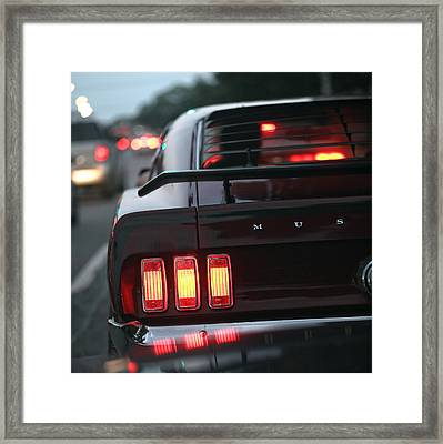 1969 Ford Mustang Mach 1 Framed Print