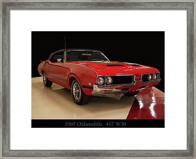 1969 Oldsmobile 442 W 30 Framed Print