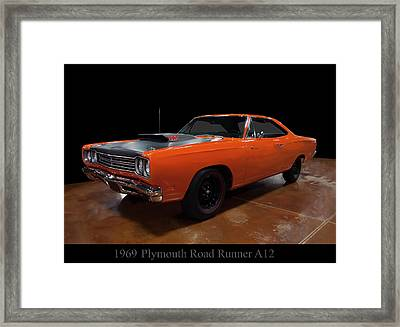 1969 Plymouth Road Runner A12 Framed Print