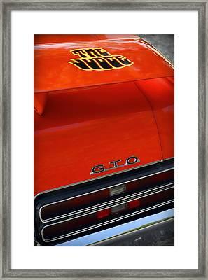 1969 Pontiac Gto The Judge Framed Print by Gordon Dean II