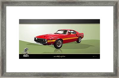 1969 Shelby V8 Gt350  Framed Print