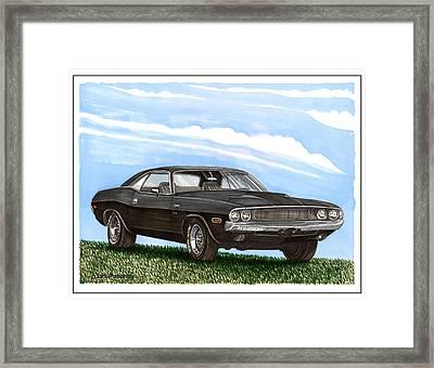 1970 Dodge Challenger Framed Print by Jack Pumphrey