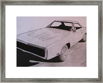 1970 Dodge Charger Framed Print by Gayle Caldwell