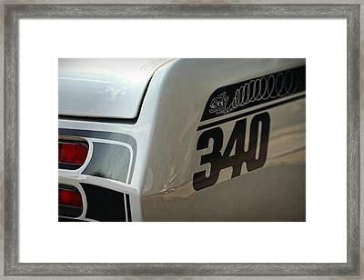 1971 Plymouth Duster 340 Framed Print by Gordon Dean II