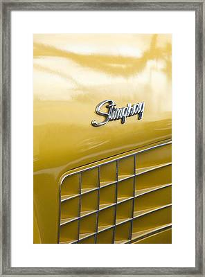 1972 Chevrolet Corvette Stingray Emblem Framed Print by Jill Reger
