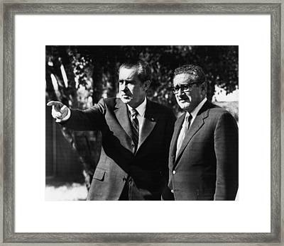 1972 Us Presidency, Cabinet.  Us Framed Print by Everett