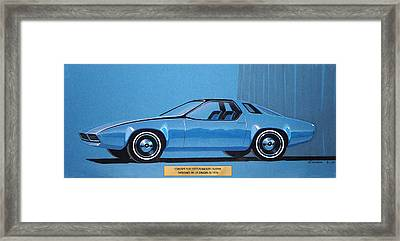 1974 Duster  Plymouth Vintage Styling Design Concept Sketch Framed Print by John Samsen