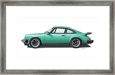 1976 Porsche Euro Carrera 2.7 Illustration Framed Print