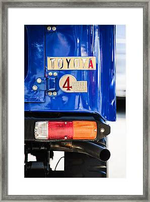 1982 Toyota Fj43 Land Cruiser Rear Emblem -0483c Framed Print