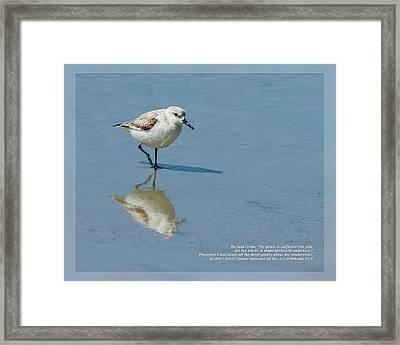 Framed Print featuring the photograph 2 Corinthians 12 9 by Dawn Currie