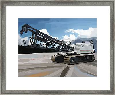 2004 Link Belt 138h5 Lattice Boom Crawler Crane Framed Print
