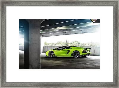 2014 Vorsteiner Lamborghini Aventador V Verde Ithaca 2 Wide Framed Print