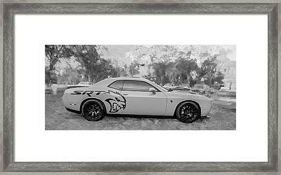 2015 Dodge Srt Hellcat Challenger C305 Bw Framed Print by Rich Franco