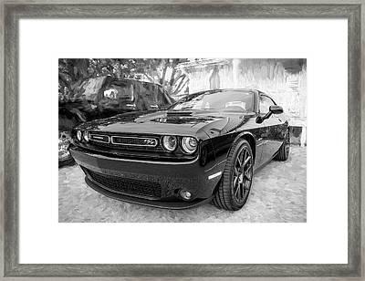 2016 Dodge Challenger R/t Bw Framed Print