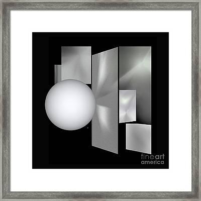 Framed Print featuring the digital art 1-2017 by John Krakora