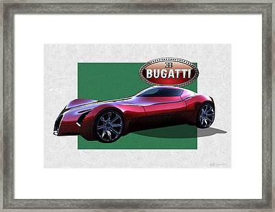 2025 Bugatti Aerolithe Concept With 3 D Badge  Framed Print