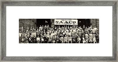 20th Annual Session Of The N.a.a.c.p Framed Print by Everett