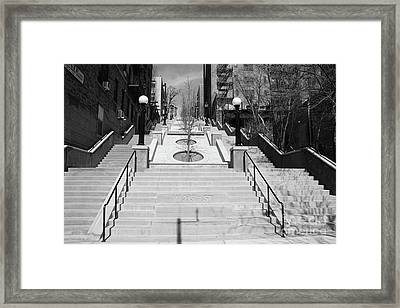 215th Street Stairs Framed Print