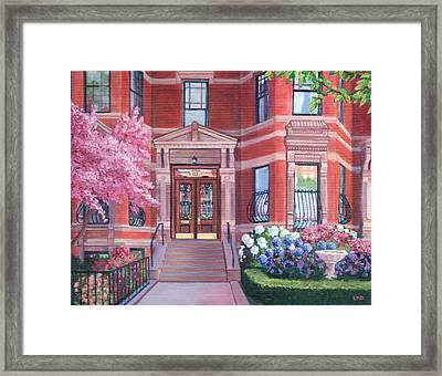 238 Marlborough Street Framed Print by Laura DeDonato