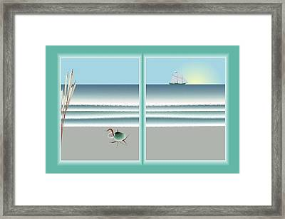 24x36 Window On The Water Framed Print by Steve Smyth