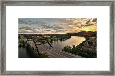 360 Bridge Sunset Framed Print