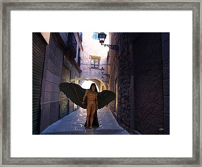 3d Thanatos God Of Death Framed Print by Joaquin Abella