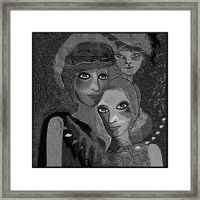 Framed Print featuring the digital art 451 - To Lean On by Irmgard Schoendorf Welch