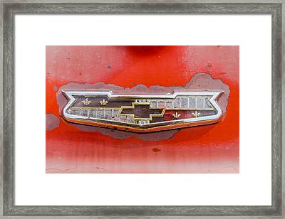50s Chevrolet Logo Framed Print by Jim Hughes