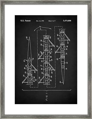 Framed Print featuring the digital art 8 Man Rowing Shell Patent by Taylan Apukovska