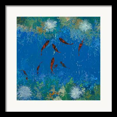 Fish Pond Framed Prints
