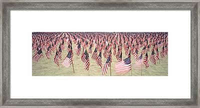 911 Tribute Flags, Pepperdine Framed Print