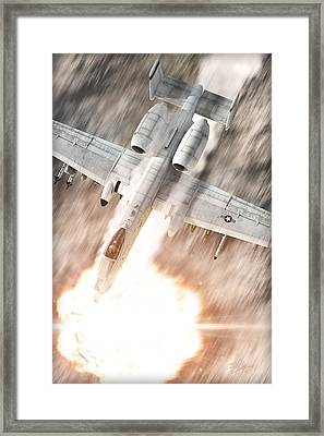 A-10 Thunderbolt II Framed Print by David Collins