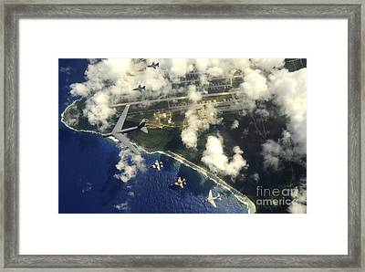 A B-52 Stratofortress Leads A Formation Framed Print by Stocktrek Images