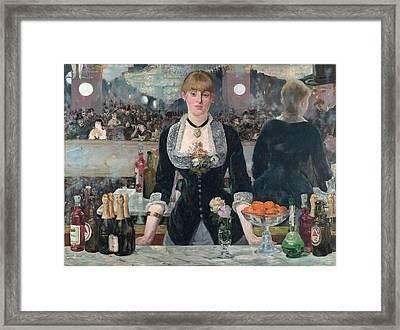 A Bar At The Folies-bergere Framed Print