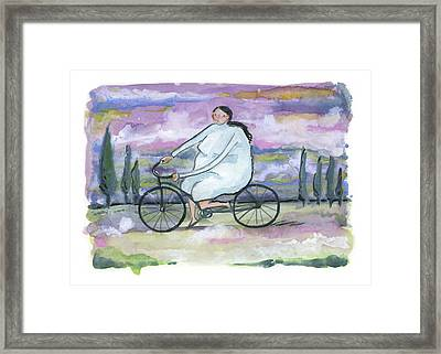 A Beautiful Day For A Ride Framed Print by Leanne WILKES