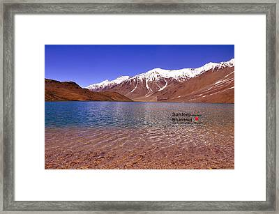 A Beautiful Lake On Himalayas Of Unforgetable Himachal In Incredible IIndia Framed Print by Sundeep Bhardwaj Kullu sundeepkulluDOTcom
