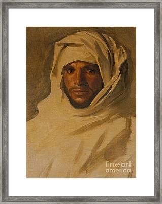 A Bedouin Arab Framed Print