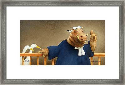 A Big Defense... Framed Print by Will Bullas