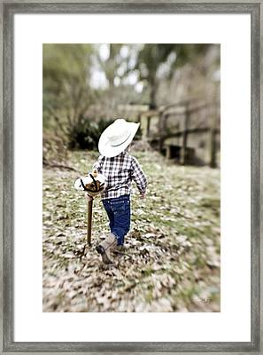 A Boy And His Horse Framed Print by Scott Pellegrin
