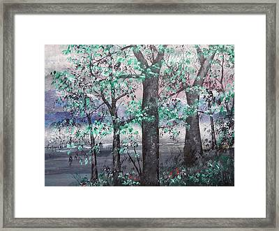 A Bright Night Framed Print