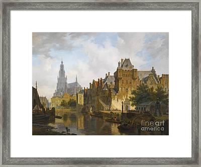 A Capriccio View Of The Hofvijver The Hague Framed Print