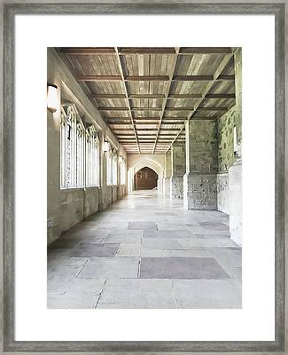 A Cathedral Corridor Framed Print
