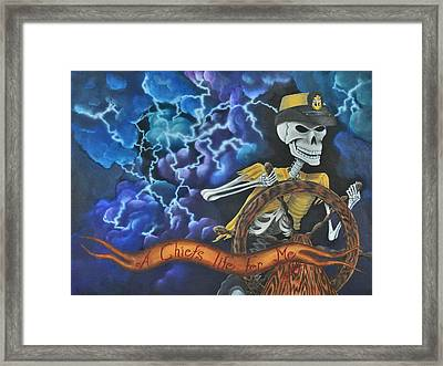 A Chief's Life Fer Me  Framed Print by Idella Cutler