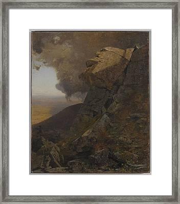A Cliff In The Katskills Framed Print