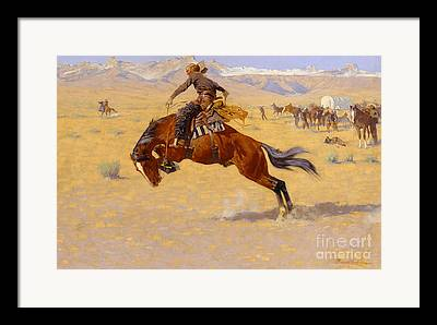 Frederic Remington Paintings Framed Prints