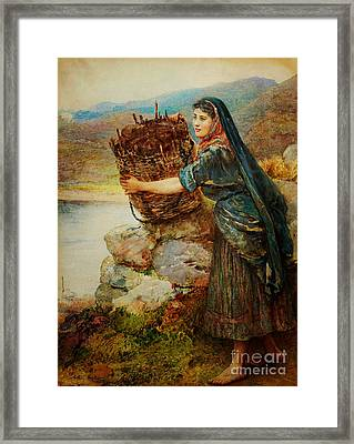 A Connemara Girl Framed Print