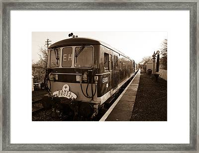 A Diesel Engine At Swindon And Cricklade Railway Framed Print