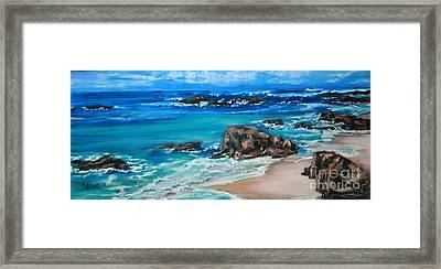 A Distant Shore Framed Print by Cathy Weaver
